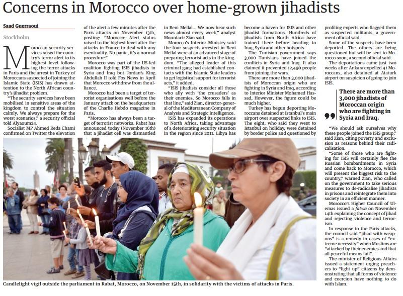 Concerns in Morocco over home-grown jihadists – The Arab Weekly